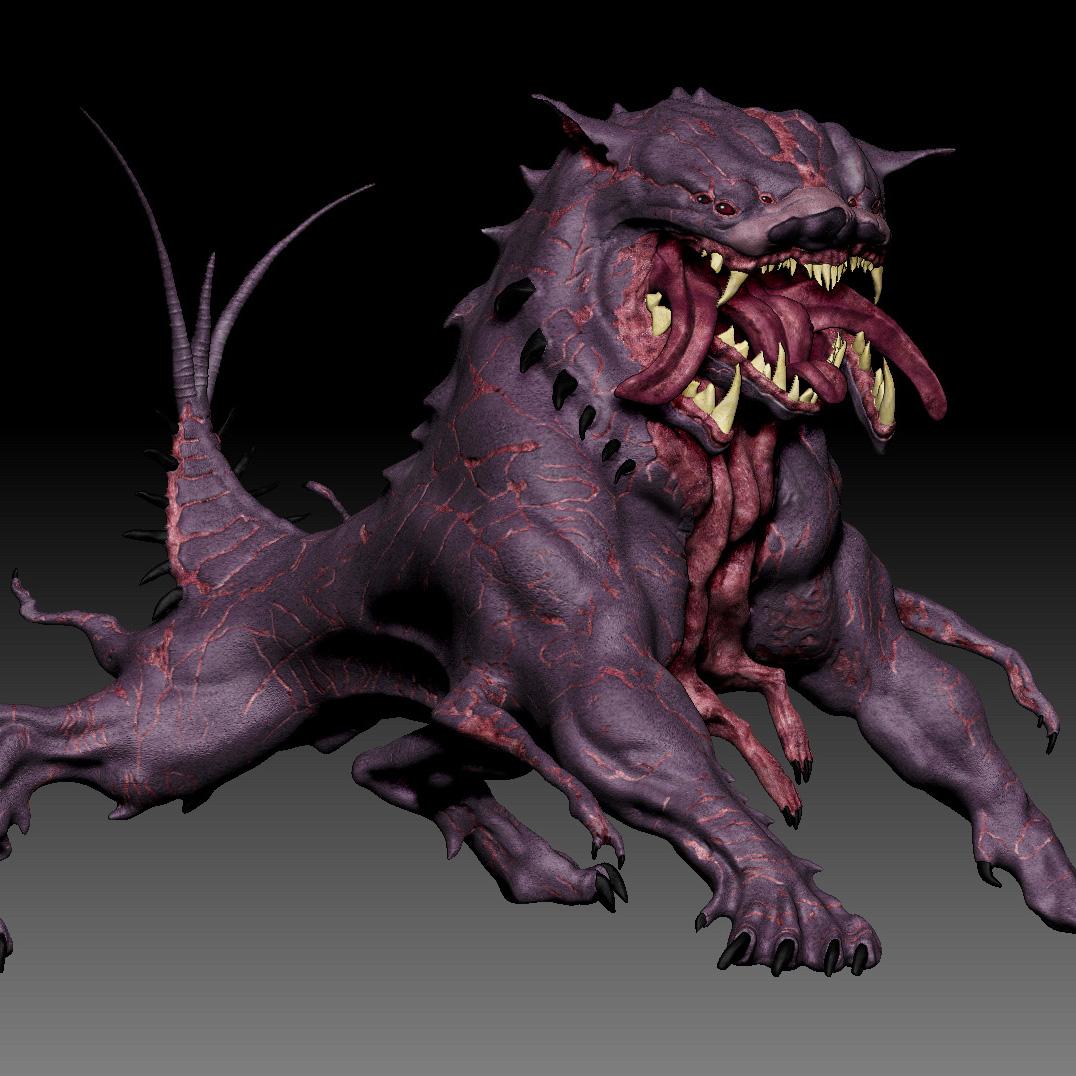Cerberus Hell Hound 3D Sculpture