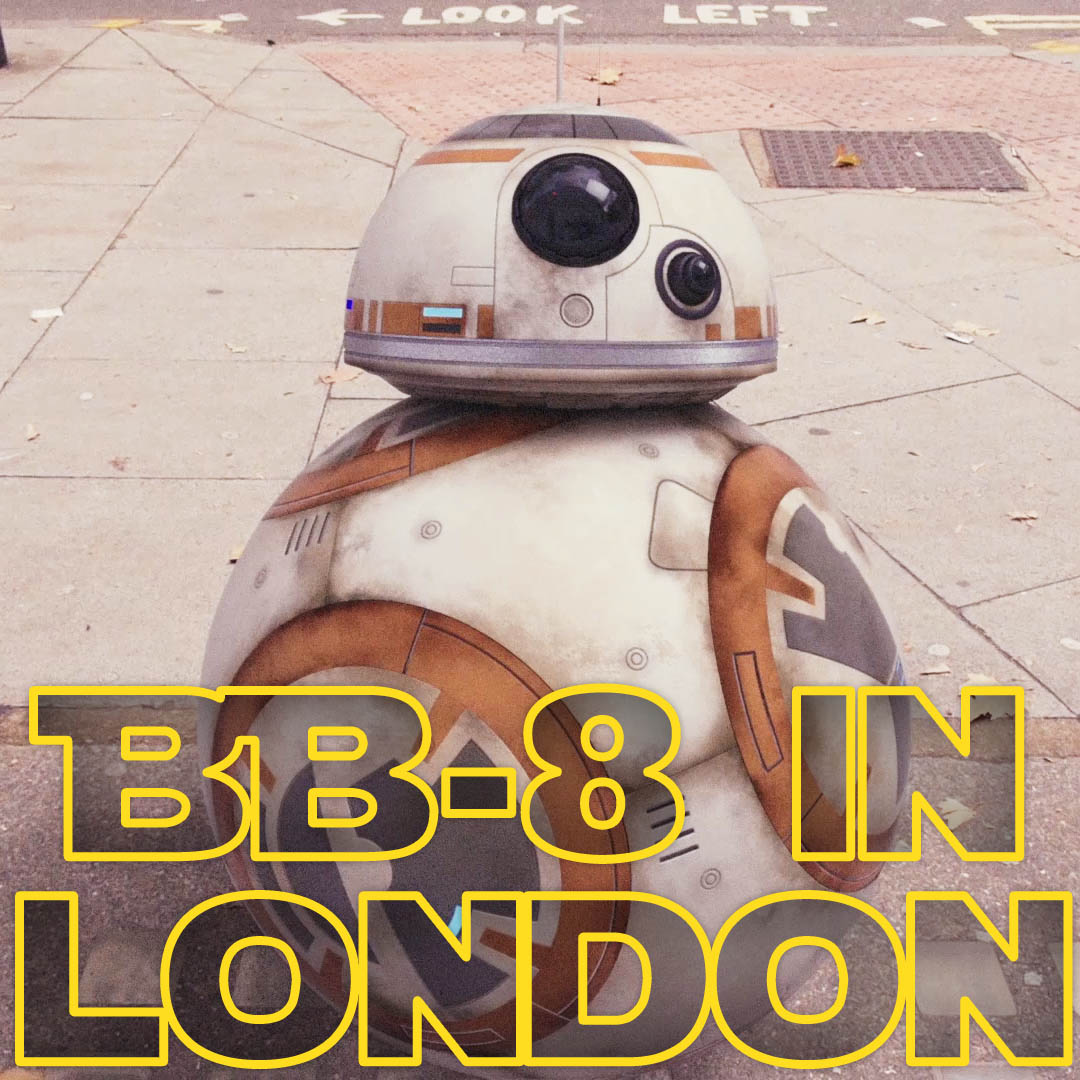 BB-8 in London short film and free 3D model